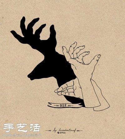 童年时最喜欢的经典手影 -  www.shouyihuo.com