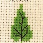 朴树的十字绣绣法