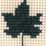 牛迭肚的十字绣绣法