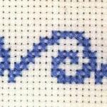 海浪的十字绣绣法