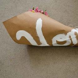 牛皮纸袋废物利用DIY手捧花包装