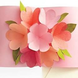 立体的花朵装饰贺卡手工制作