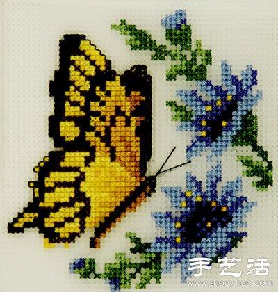 如何处理十字绣背面的技巧 -  www.shouyihuo.com