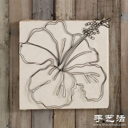 软铁丝制作的小工艺品_铁丝手工DIY的精美工艺品_手艺活网
