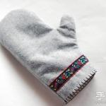 羊毛毡手工制作民族风连指手套