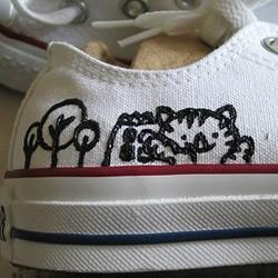 白色帆布鞋手工改造教程
