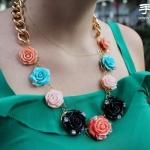 青春活力牡丹花项链DIY手工制作方法