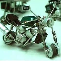 一次性打火机DIY手工制作摩托车模型