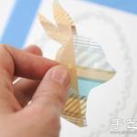 彩色胶带创意手工DIY兔子贴饰