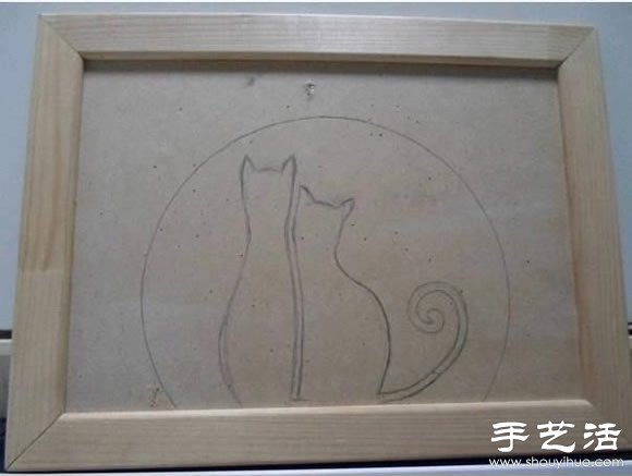 豆子+画框 手工DIY创意拼贴画 -www.shouyihuo.com