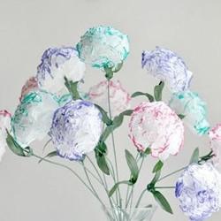餐巾纸DIY康乃馨纸花的做法