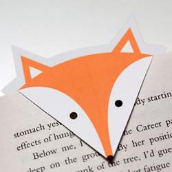 超简单狐狸书签制作方法