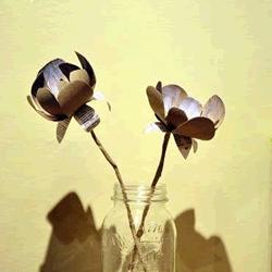 卫生纸卷筒变废为宝DIY漂亮花朵