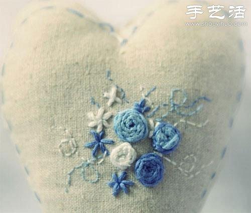 棉麻布刺绣DIY清新居家小物件 -  www.shouyihuo.com