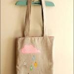 清新可爱拼布手提袋手工制作教程