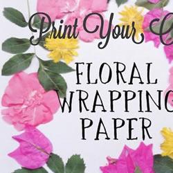 鲜花+打印机 DIY制作漂亮花卉图案包装纸