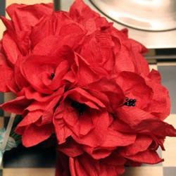 漂亮的手捧花剪纸制作