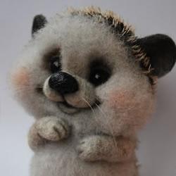 超详细刺猬玩偶的羊毛毡手工制作教程