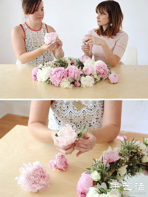 美好手工創意:DIY鮮花簇擁的梳妝鏡