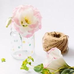 玻璃瓶废物利用手工制作储物罐/花瓶