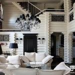 乌克兰黑白色调别墅装修设计