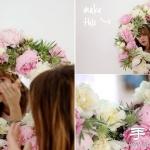 美好手工创意:DIY鲜花簇拥的梳妆镜