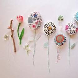 漂亮针织花朵手工艺品