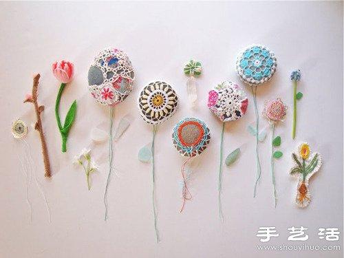 漂亮針織花朵手工藝品