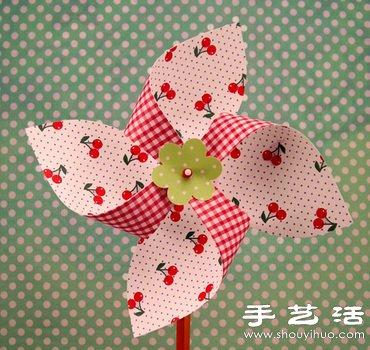 漂亮精致的纸质风车手工艺术品 -  www.shouyihuo.com