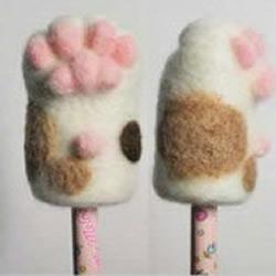 非常萌的猫咪主题羊毛毡手工艺品