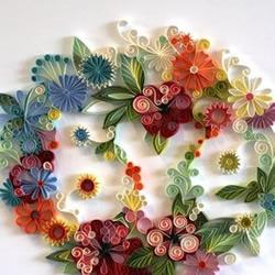 衍纸手工制作漂亮花卉图案