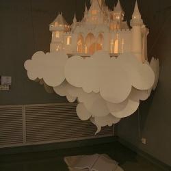 精美的纸模天空之城