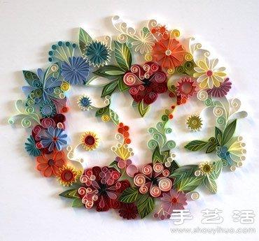 【 手工藝品 】衍紙手工製作漂亮花卉圖案| 紙藝 | 裝飾