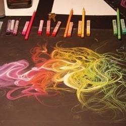 唯美梦幻的创意粉笔手绘
