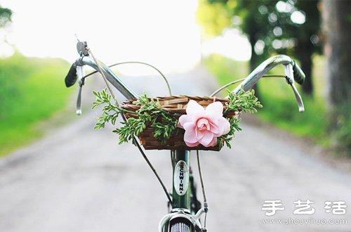 自行車車筐DIY手工裝飾教程