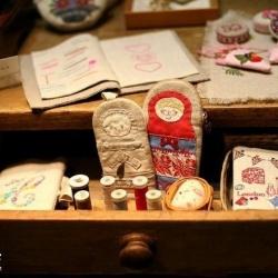 韩国风甜美手工布艺包包刺绣作品