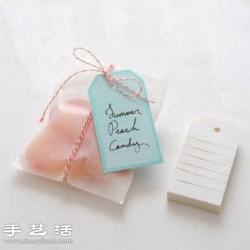 纸质标签+橡皮擦 DIY手工制作标签印章