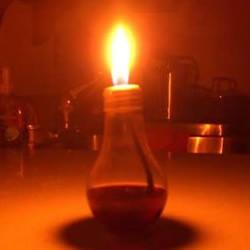 白炽灯泡废物利用DIY制作浪漫小油灯