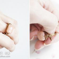 砂金石/宝石+铜丝/金属丝 DIY制作精美戒指