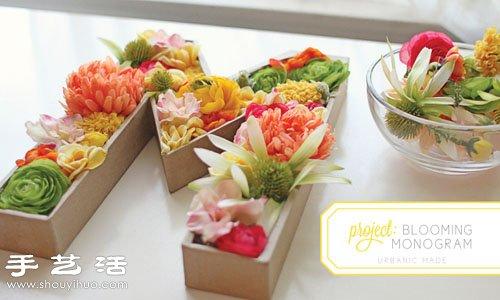 鮮花DIY超美的字母插花裝飾