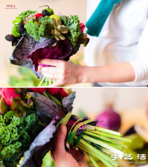 多肉植物DIY製作色彩亮麗手捧花