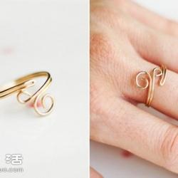 金属丝DIY手工制作甜美戒指 送给心爱的人~