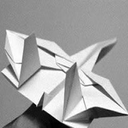 手工折纸制作超逼真隐形战斗机