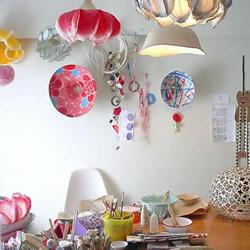 纸张DIY的漂亮易更换吊灯灯罩