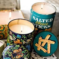 铁罐废物利用手工制作漂亮复古蜡烛/烛台