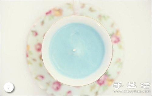 手工DIY唯美的茶杯蠟燭圖解教程
