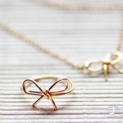 首饰铜线手工制作蝴蝶结戒指图解教程