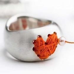 金属戒指DIY优雅心形绕线