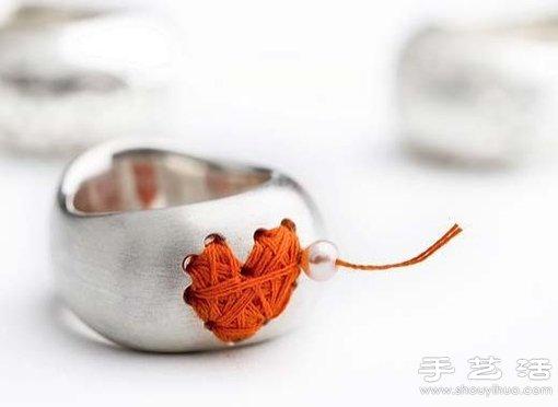 金屬戒指DIY優雅心形繞線