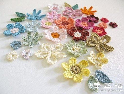 上等蕾絲線手工針織漂亮花朵